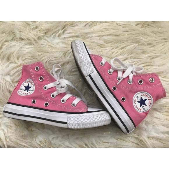 Converse Other - Kids Pink High Top Converse 40f23ccd4